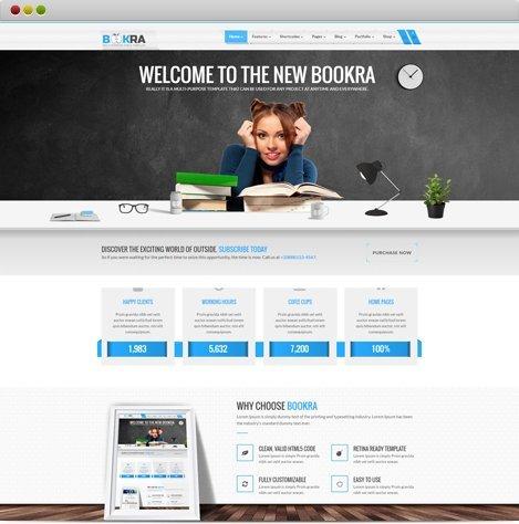 BOOKRA HTML5 Template