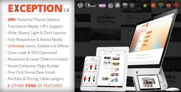 EXCEPTION Responsive Multi-Purpose WordPress Theme