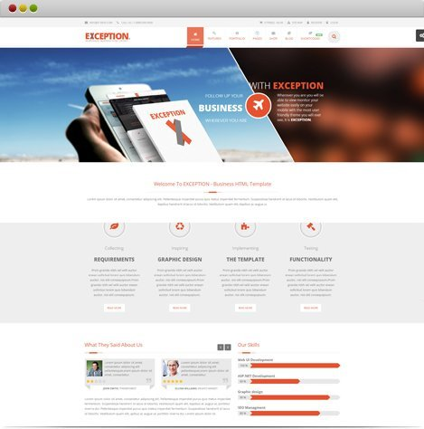 EXCEPTION HTML5 Template
