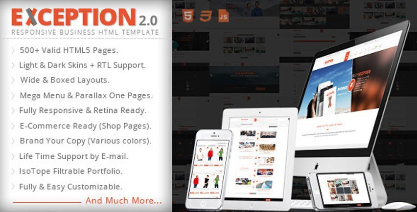 EXCEPTION Responsive Business HTML Template