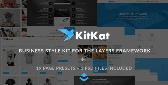 KITKAT Business Layers WP Style Kit