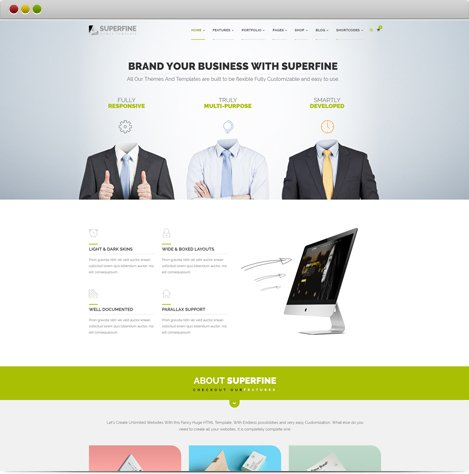 SuperFine HTML5 Template