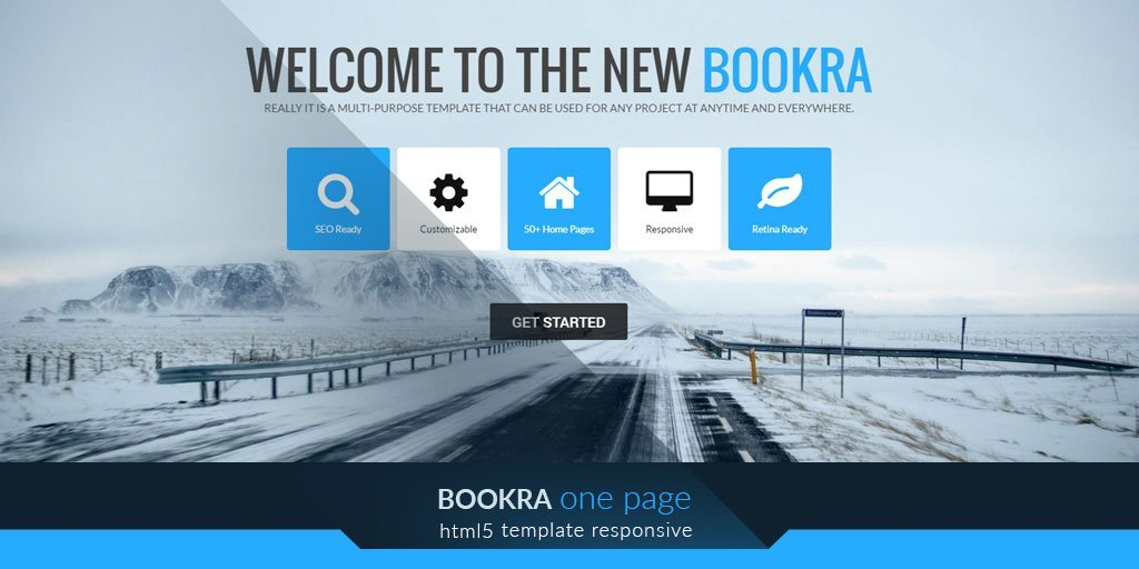 Bookra one-page blog