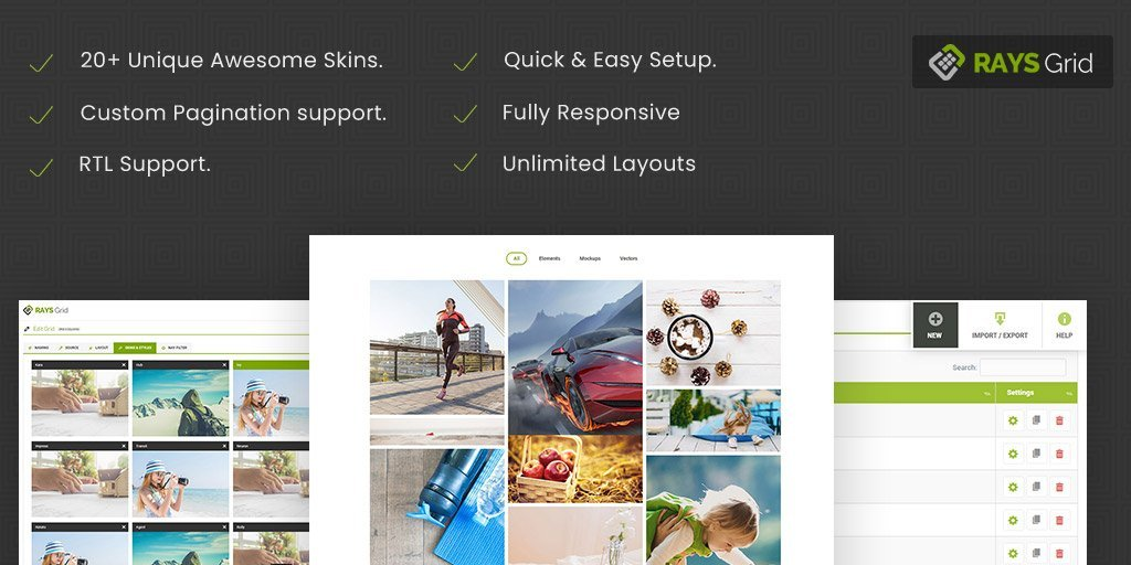 RAYS Grid WordPress Plugin